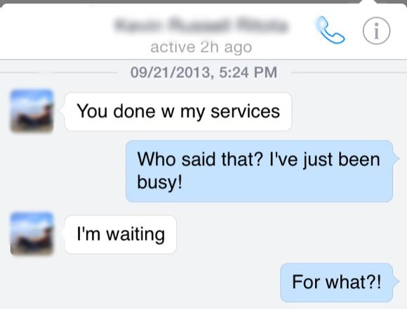 Services? I wasn't planning on paying for it.